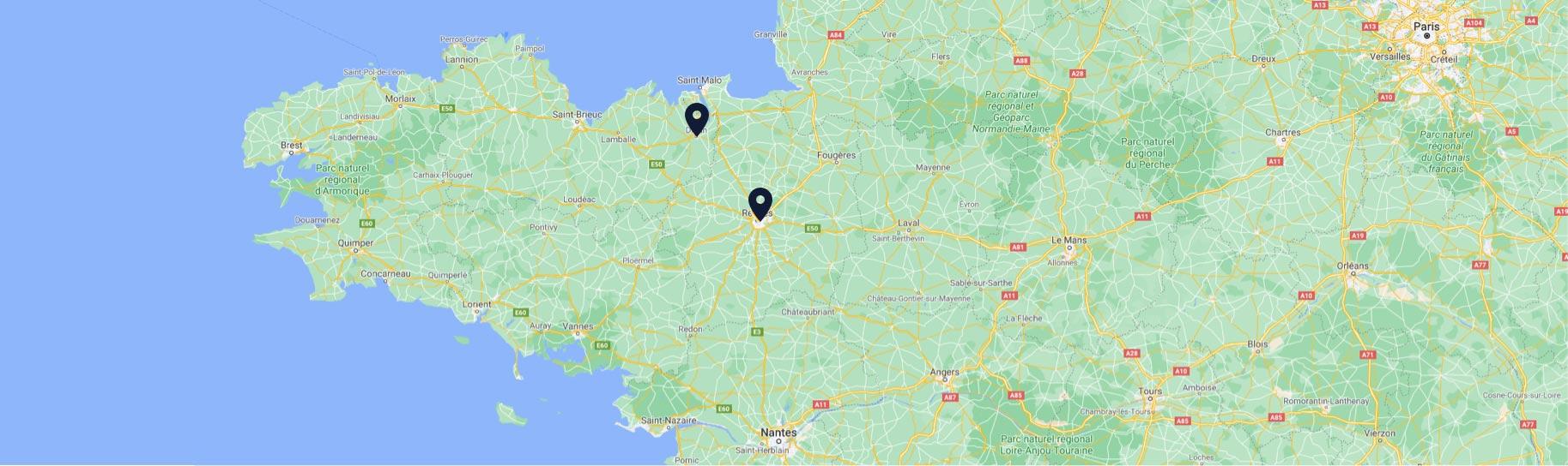 Retrouvez les cabinets de Quadrige avocats à Rennes et Dinan